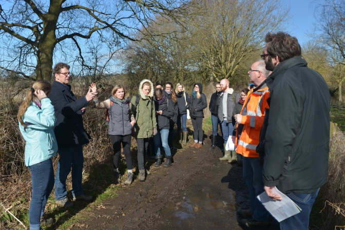 Photos from our visit to the Eversley quarry restoration project