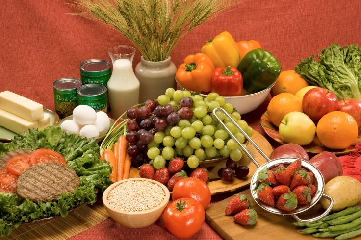 """""""Fruits and Vegetables laid out on a table"""" by USDA is licensed under CC BY 2.0"""