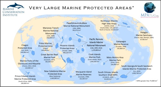 Image taken from the Marine Conservation Institute based on MPA atlas